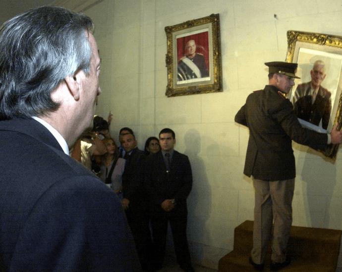 Néstor Kirchner, Nunca Mas, 2004, cuadros